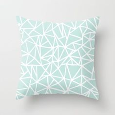 Ab Outline Thick Mint Throw Pillow by Emeline - Cover x with pillow insert - Indoor Pillow Mint Green Rooms, Mint Green Decor, Mint Rooms, Green Throw Pillows, Modern Throw Pillows, Designer Throw Pillows, Decorative Throw Pillows, Pastel Bedroom, Bedroom Green