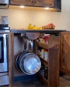 Space-Saving Kitchen Storage Solution by Stewarts Carpentry | Accuride