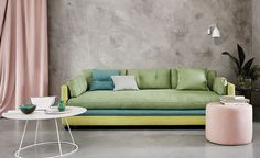 Sulis fabric collection, new from Romo Group. Available at DDA! Home Staging, Romo Fabrics, Upholstery Fabrics, Single Sofa, Upholstered Sofa, Bespoke Design, Casual Elegance, Shades Of Green, Outdoor Sofa