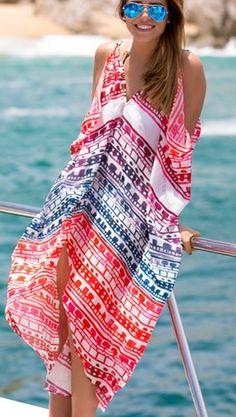 Tunika sukienka plażowa letnia PAREO CHUSTA 41120