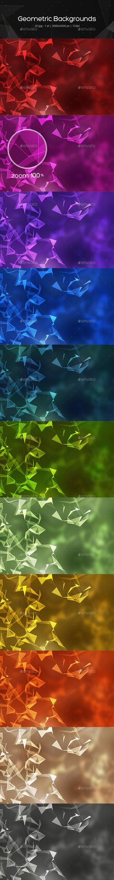 Geometric Backgrounds  — JPG Image #geometric shapes #triangles • Download ➝ https://graphicriver.net/item/geometric-backgrounds/18393206?ref=pxcr