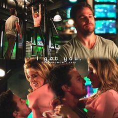 "#Arrow 5x20 ""Underneath"" - ""I got you"" - #OliverQueen #FelicitySmoak"