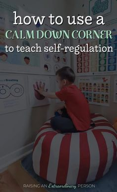 How to Create the Ultimate Calm Down Corner - ASD & ADHD Resources Use your calm down corner to help child with self-regulation, learn from their mistakes, and develop healthy coping skills which avoiding harsh punishments. Emotional Regulation, Self Regulation, Calm Down Kit, Calm Down Corner, Calming Activities, Toddler Activities, Toddler Development, Social Emotional Learning, Adhd Kids
