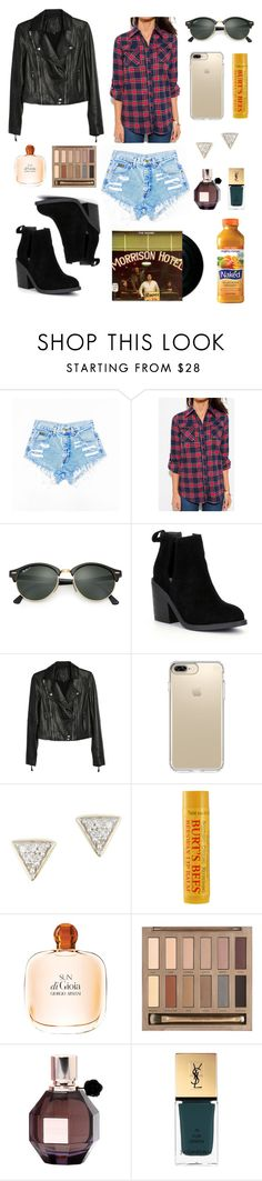 """""""oh, baby please"""" by velvetshores ❤ liked on Polyvore featuring Ray-Ban, Steve Madden, Paige Denim, Speck, Adina Reyter, Burt's Bees, Giorgio Armani, Urban Decay, Viktor & Rolf and CO"""
