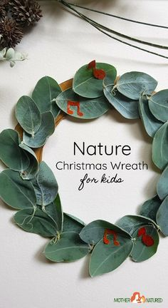 Check out these stunningly simple Christmas Leaf Wreath ideas to try with your children. You'll feel so festive enjoying this craft time together. Christmas Family Feud, Christmas Art For Kids, Christmas Leaves, Aussie Christmas, Natural Christmas, Christmas Activities, Christmas Printables, Simple Christmas, Christmas Holidays