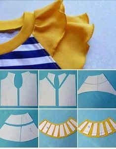 27 elegant photo of custom sewing patterns – ArtofitI think i want to make all my sleeves petal tulip sleeves = salvabrani – Artofit Kids Dress Patterns, Easy Sewing Patterns, Clothing Patterns, Sewing Tutorials, Sewing Projects, Techniques Couture, Sewing Techniques, Pattern Cutting, Pattern Making