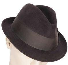 SOLD Vintage Borsalino Featherweight Fedora Gran Lusso Club Mens Hat Large  Size 7 3 8 27b214e8f6f2