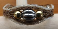 Brown Horse Hair Bracelet with Gold and Silver Beaded Accents   eBay