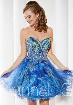 Hannah S Blue Sweetheart Dress 27935