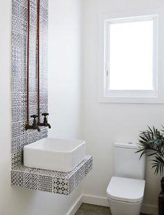 George Gorrow House by designer Marika Jarv // Ensuite Bathroom ...
