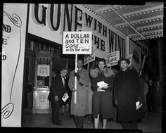 """""""Picketing 'Gone with the Wind' at the Lincoln Theater"""", ca. 1940, Washington, D.C."""