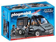 Playmobil – 6043 – Voiture de patrouille de la police avec son et lumière