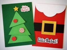 Cart o de Natal para fazer com as crian as o as Christmas Card Crafts, Merry Christmas Card, Kids Christmas, Holiday Crafts, Christmas Decorations, Christmas Cards Handmade Kids, Handmade Cards, Diy Cadeau Noel, Tarjetas Diy