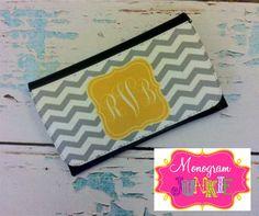 Personalized Monogrammed Wallet CHEVRON Pick by Monogramjunkie, $24.99