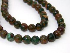 Green Opal Chalcedony Beads
