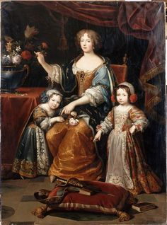 Elisabeth Charlotte, duchess d'Orleans and sister-in-law to Louis XIV, an historical character in The Wolf's Sun, a novel set in Century Brittany and Paris, France. Louis Xiv, French History, Art History, Trianon Versailles, Ludwig Xiv, French Royalty, European Dress, Elisabeth, Herzog