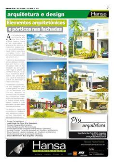 33°Publicação Jornal bom dia – Matéria - Elementos arquitetônicos   13-04-12