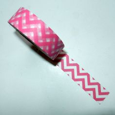 Pink and White Chevron Washi Tape by CloudNineSupplyShop on Etsy, $3.25