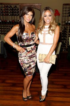 teresa guidice and amber marchese | Dina Manzo, Teresa Giudice, Melissa Gorga, and Amber Marchese all ...