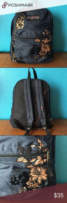 Jansport backpack with floral design Super cute backpack! EUC! Make me an offer bundles are awesome! Jansport Bags Backpacks