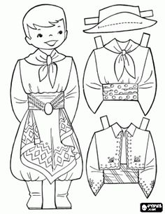 Argentina boy paper doll   (online coloring, but you can print outline instead)