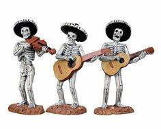 Lemax Skeleton Mariachi Band Set of 3