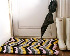 To DIY For: Make This Friendship Bracelet Chevron Rug - The Chalkboard