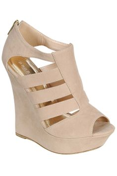 724f40cea0955 Bamboo Pompey-55 Fisherman Wedges in Nude - Beyond the Rack  29.99. Knoaah  · bags · Coral and gold wedges  perfect for summer Wedge Shoes