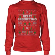 Crochet #Knitting, Order HERE ==> https://www.sunfrog.com/Funny/Crochet-Knitting-LongSleeve-Red.html?49095, Please tag & share with your friends who would love it, #christmasgifts #renegadelife #xmasgifts