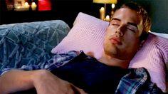 Theo James Sleeping