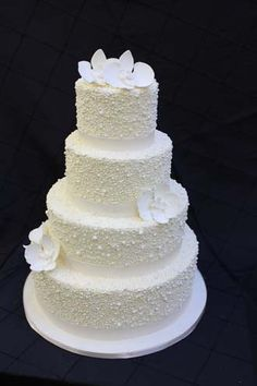 One Day Down The Aisle Extreme Pearly Wedding Cake!