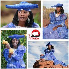 Kapelusz w kształcie rogów krowy, bufiaste suknie rodem z XIX wieku. To stylizacja kobiety z ludu Herero.