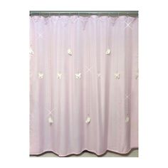 Single Swag Beaded Shower Curtain Bling With 12 Mid To Long Length Vertical Strands