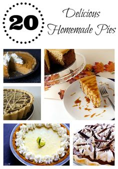 20 Delicious Homemade Pies