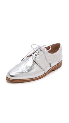 88f8c4b05572 Thakoon Addition Metallic Oxfords Metallic Oxfords, Metallic Leather, Silky  Dress, Work Bags,