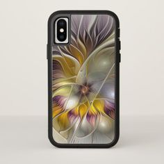 Abstract Colorful Fantasy Flower Modern Fractal iPhone X Case - modern gifts cyo gift ideas personalize