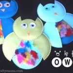 owls made from paper plates by preschoolers