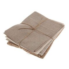 Crafted from cotton, linen and hessian in a variety of textures, these natural-coloured fat quarters are supplied in a pack of four....