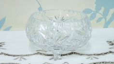 A personal favourite from my Etsy shop https://www.etsy.com/uk/listing/482559135/small-crystal-glass-bowl-polonia-or