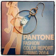 I love #battiquore #milano ! #Silver #jewels with #natural #stones and #pearls ! #pantonefashioncolorreport #blue #lightblue #bluetopaz #earring #flower #drop #silver #italiandesign