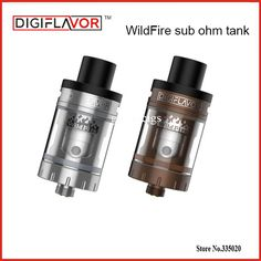 Origina Digiflavor WildFire Sub Ohm Tank 3ml Atomizer Top and Bottom Ariflow System Vape for DF60 Box MOD WildFire e-sigarette #Affiliate