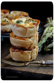 Quick tartlets, by Cupcakes a gogó Brunch Recipes, Sweet Recipes, Tapas, Mini Foods, Finger Foods, Food Photography, Bakery, Food And Drink, Yummy Food