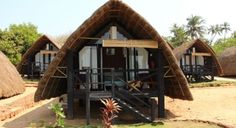 Rustic cottages at Golven Beach Resorts to make you experience the authentic Konkan living.