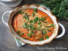 Kääpiölinnan köökissä: Kasvisruokakokeiluja osa 1: Kesäkurpitsapaistos