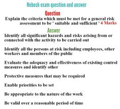 23 Best Nebosh exam questions images in 2016 | Model question paper