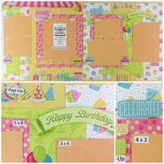 Photo Play Birthday Girl Best site for scrapbook layout and project kits!  Plus auto ship clubs! www.scrapbookstation.com