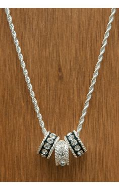 Montana Silversmiths® Silver with Black Crystal Shine Necklace | Cavender's Boot City