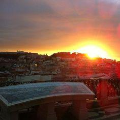 Miradouro de São Pedro de Alcântara - Beautiful scenic lookout #Lisbon Business Travel, Trip Planning, Portugal, Celestial, Sunset, Beautiful, Outdoor, Smile, Candy