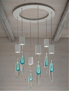 RAINDROP Chandelier. Modern interiors pendant suspension, ceiling and wall light collection.