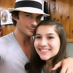 Ian Somerhalder with Lucky Fan
